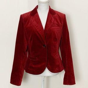 THE LIMITED- Red Velvet Blazer. Size 10